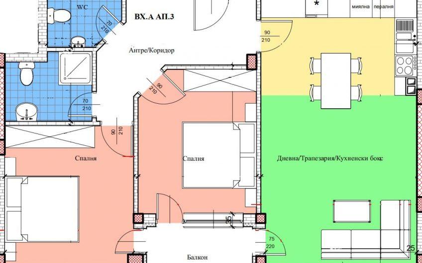 Тристаен апартамент в новострояща се жилищна сграда в ТОП ЦЕНТЪР